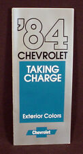 1984  CHEVROLET CAR  PAINT COLOR CHIP BROCHURE -  CAMARO, CAPRICE, CAVALIER, ETC