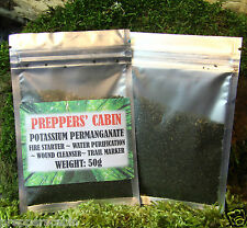 50 GRAMS POTASSIUM PERMANGANATE FIRE STARTER A MUST HAVE BUSHCRAFT SURVIVAL
