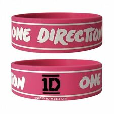 ONE DIRECTION logo/pink 2013 rubber WRISTBAND official licensed merchandise 1D