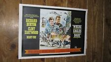 Where Eagles Dare Clint Eastwood Repro Film POSTER Land