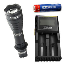 Armytek Predator Pro XP-L Hi w/ D2 Charger & Jetbeam 3400mAh Battery