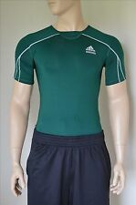 NEW Adidas TechFit Short Sleeve SS Base Layer Compression Shirt Green Tee M