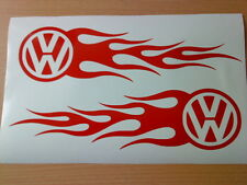 vw flames tribal x2 vinyl car sticker side graphics decal rally stock racing fun