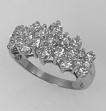 3.5 TCW Diamond Cluster Ring G Color SI 14K White Gold