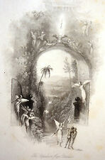 Gravure The Expulsion from Paradise Edward Goodall after William TURNER 1835