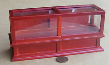 1:12th Mahogany Colour Shop Display Counter Dolls House Miniature Accessory 273m