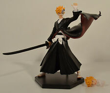 "4.5"" Ichigo Kurosaki Hollow Action Figure w/ Interchangable Heads & Stand Bleach"