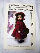 "Effner 13"" Little Darling Pattern for  Coat, Dress, Hat and Muff"
