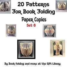 20 LIBRO PIEGHEVOLE Modelli di creare il proprio LIBRO piegata Art Set 8 copie su Carta