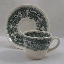 Villeroy & and Boch BURGENLAND GREEN coffee / tea cup and saucer