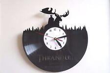 Thranduil design vinyl record wall clock, home decor art office shop pub move