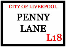 Huge Penny Lane Fridge Magnet 30cm x 21cm City Of Liverpool L18