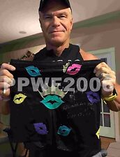 WWE BILLY GUNN HAND SIGNED RING WORN TRUNKS WITH PROOF AND COA DX 2