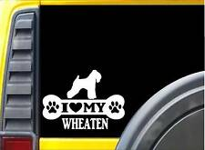 Wheaten Terrier Bone Sticker L195 8 inch dog decal