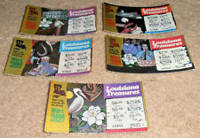 VINTAGE 1991 1ST LOTTERY TICKET LOUISIANA TREASURES SET LOT JAZZ MARDI GRAS +++