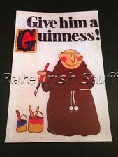 Give Him A Guinness - Book Of Kells Irish Monk Gaelic Print - Ireland Pub Bar