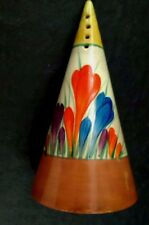 "clarice cliff ""Crocus"" Conical Sugar Sifter"