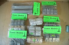 TOWER MODELS O GAUGE KIT BUILT COACH SEATING UNITS x 10 my