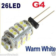 G4 SMD 3528 26 LED DC 12V 2W RV Marine Boat Camper Light Bulb Lamp
