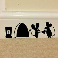 Mouse Hole Vinyl Mural Wall Art Sticker Decal Kids Nursery Room Home House Decor