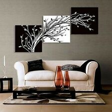 OIL PAINTING MODERN ABSTRACT WALL DECOR ART CANVAS,Black and White (NO FRAME)