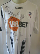 Bolton 2009-2010 Squad Signed Home Football Shirt COA  /34398