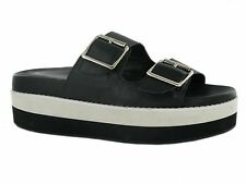 BRAND NEW LADIES FLAT PLATFORM DOUBLE BUCKLE WEDGE CAUSAL SANDALS UK SIZE 3-8