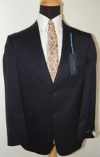 TOMMY HILFIGER NAVY PINSTRIPE A80453 100% WOOL TWO BUTTON MENS SUIT 44R 38W