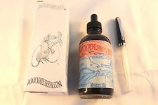 NOODLERS INK 4.5 OZ BOTTLE POLAR BROWN WITH FREE CHARLIE FOUNTAIN PEN