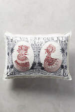 New Anthropologie Passage Abroad Bird Pillow - Sold Out! ( Stamp design)