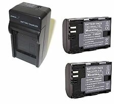 LP-E6 Kit  Mains/Car Charger & 2x fully compatible Batteries for Canon EOS 5D