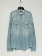 $90 Calvin Klein Jeans Men's Denim Sport Shirt Blue Extra Large