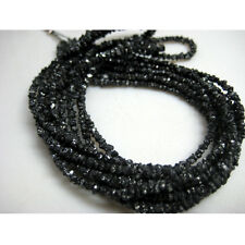 "Beautiful Black Rough Raw Uncut Diamonds Beads Gemstone 2mm-3mm 4"" Strand Gs54"