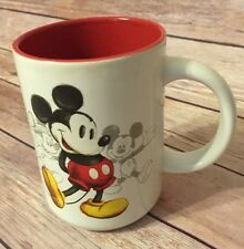 Disney Store Mickey Mouse Through The Years Mug Coffee Cup Red