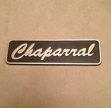 Old Chaparral Boat Plastic Emblem~Dash~Interior~Black~Classic Power Boat~NOS