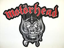 motorhead snaggletooth  LOGO   EMBROIDERED BACK PATCH