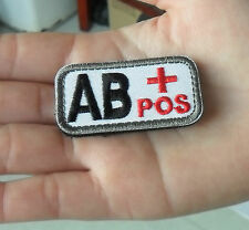 Blood Type IR Style Military Tactical Velcro Patch  SK   418