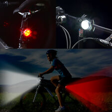 USB Rechargeable  Waterproof Bicycle Front Rear Lights With Frog lights  4 Modes