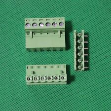 20pcs 6 Pin Plug-in Screw Terminal Block Connector 5.08mm Pitch Right Angle