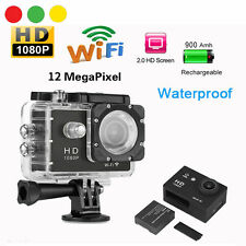 TELECAMERA SPORT HD 1080P WIFI + KIT ACCESSORI + CASE WATERPROOF 30MT 12MPixels