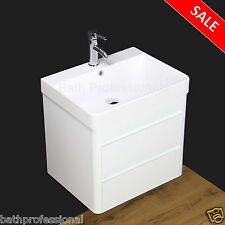 Vanity Unit Cabinet Bathroom Basin Sink Wall Hung Mounted Cloakroom Stone B60-2