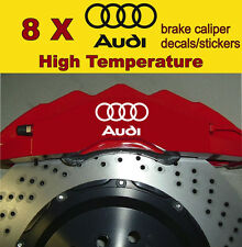 8 X Audi Brake Caliper Decals Stickers Vinyl Emblem Logo Graphics Car A