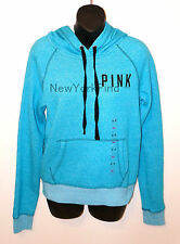 VICTORIA'S SECRET LOVE PINK HOODIE Sweater Shirt Top Jacket Blue Black SMALL S