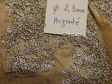 lot de 600 anneau de jonction ouvert bague de perle création bijou métal argenté