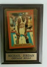 MICHAEL JORDAN  #4 CHICAGO BULLS CARD Jr. Wood Plaque Holder