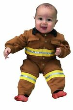 Aeromax Jr. Fire Fighter Suit Toddler Costume, Size 6 to 12 Months, Tan