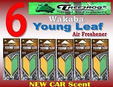6 Packs Treefrog Wakaba YOUNG LEAF Car Air Freshener NEW CAR Scent JDM