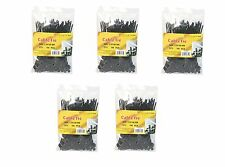 5x 4 inch Nylon Cable Zip Tie Black 5 bags/100 pack 500 pcs 18 Lbs Ties For Wire