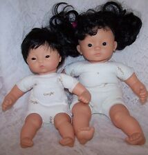 "Corolle Asian Baby Doll Lot 2007 12"" baby doll & 2006 15"" Doll"