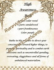 High Awareness Personal Power Bath Recipe Potion for Wicca Spell Book of Shadows